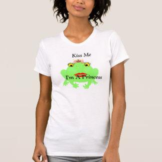 Camiseta O sapo verde beija-me que eu sou uma princesa com