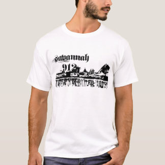 Camiseta O savana GA pôr sobre para seu perímetro urbano