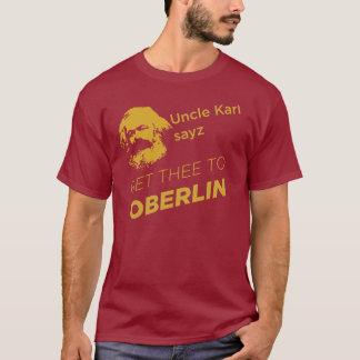 Camiseta O sayz do tio Karl obtem o thee a Oberlin