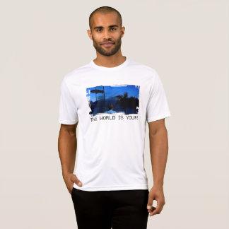Camiseta O Scarface o mundo é seu t-shirt dos homens