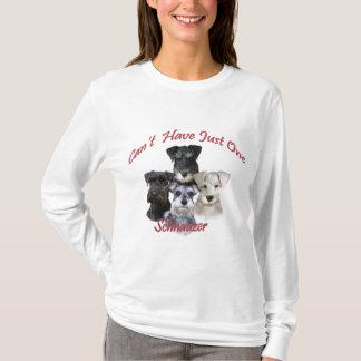 Camiseta O Schnauzer não pode ter apenas um roupa