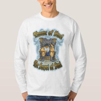 Camiseta O segredo do t-shirt longo básico da luva dos