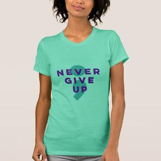 Camiseta O Semicolon do projeto nunca dá acima a prevenção