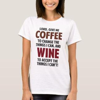 Camiseta O senhor, dá-me o café e o vinho