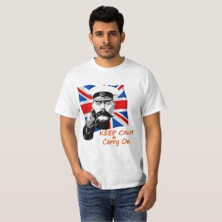Camiseta O senhor Kitchener Mantimento Calmo & continua