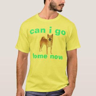 Camiseta o shibe pode mim ir em casa agora