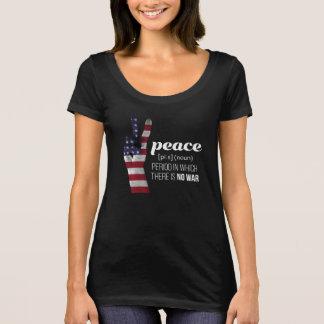 Camiseta O sinal de paz drapejou na bandeira americana -