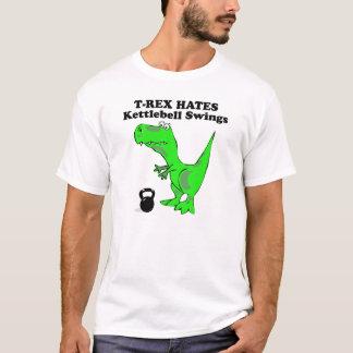 Camiseta O sino da chaleira dos ódios de T-Rex balança a