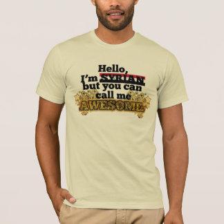 Camiseta O sírio, mas chama-me impressionante