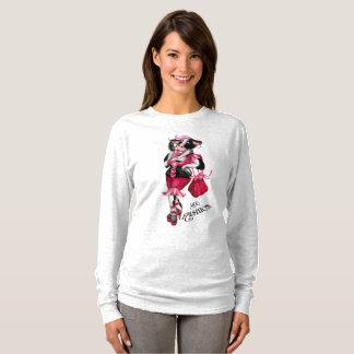 Camiseta O Sl longo básico das mulheres do campeão das