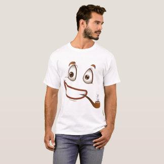 Camiseta O smiley face dos homens com t-shirt da tubulação