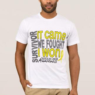 Camiseta O sobrevivente de câncer que Testicular veio nós