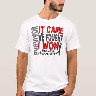 Camiseta O sobrevivente que da melanoma veio nós lutou-me