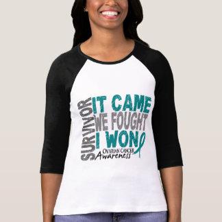 Camiseta O sobrevivente que do câncer de ovário veio nós