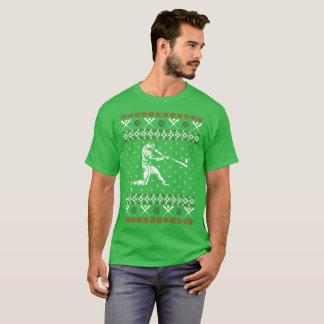 Camiseta O softball fora ostenta o T feio do vetor do Natal