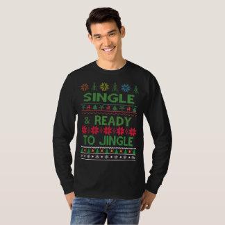 Camiseta O solteiro e apronta-se ao Natal feio do tinir