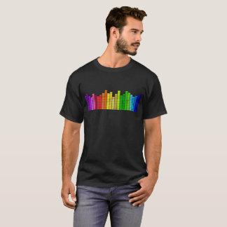 Camiseta O som barra o t-shirt gráfico do estéreo da música