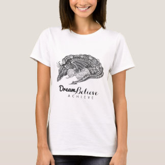 Camiseta O sonho da mamã | do dragão acredita consegue o