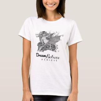 Camiseta O sonho da menina | do bastão do tatu acredita