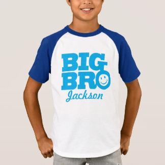Camiseta O sorriso azul do nome grande do bro caçoa o