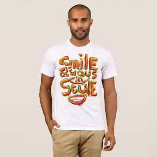 Camiseta O sorriso está sempre no estilo