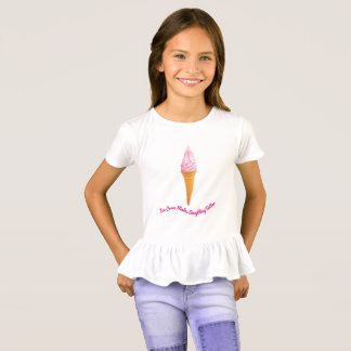 Camiseta O sorvete faz tudo melhor - t-shirt do plissado
