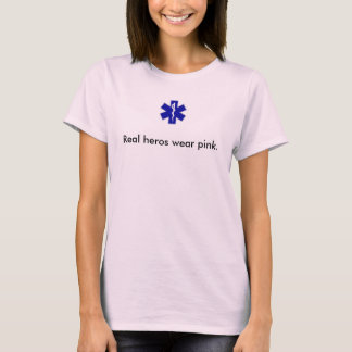 Camiseta o star_of_life, heróis reais veste o rosa