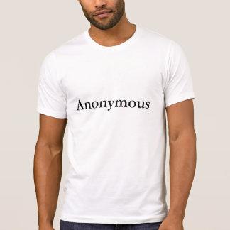 Camiseta O T anónimo dos homens