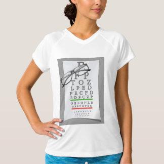 Camiseta O T ativo das mulheres da carta do optometrista