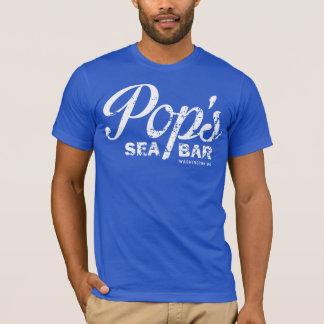 Camiseta O T azul áspero do pop