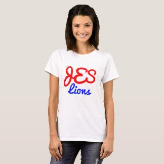Camiseta O T básico das mulheres do monograma do JES