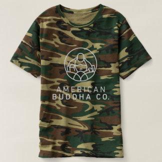 Camiseta O T básico dos homens da camuflagem de Buddha Co.
