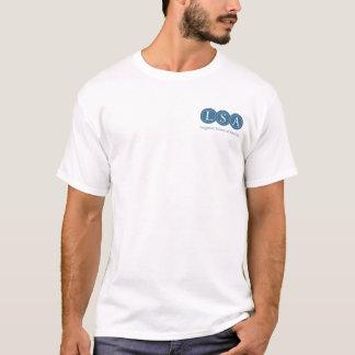 Camiseta O T básico dos homens do logotipo do LSA