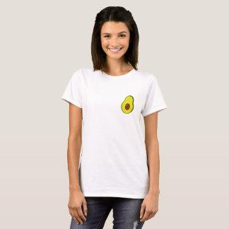 Camiseta O T bonito das mulheres do abacate de Frocket