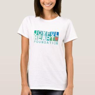 Camiseta O T cabido das mulheres coração alegre