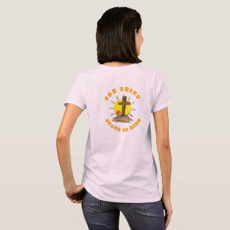 Camiseta O T cristão das mulheres