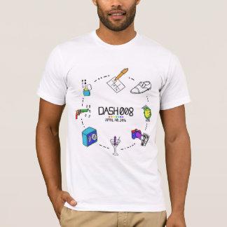 Camiseta O T Curto-Sleeved dos homens do TRAÇO 008