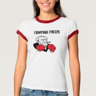 Camiseta O T da campainha das mulheres de combate de Freud