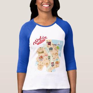 Camiseta O T da malha do Raglan de Wylie Texas