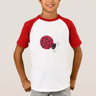 Camiseta O T das crianças afortunadas da senhora inseto
