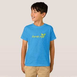 Camiseta O T das crianças maduras da força