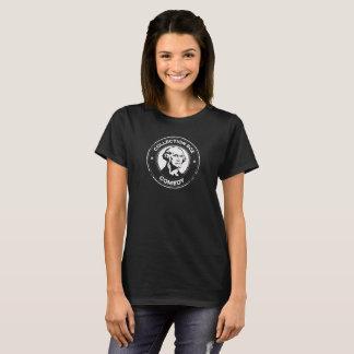 Camiseta O T das mulheres da comédia da caixa da coleção