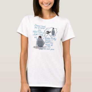 Camiseta O T das mulheres da definição de ano novo do