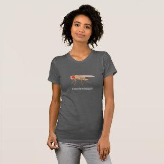 Camiseta O T das mulheres da drosófila