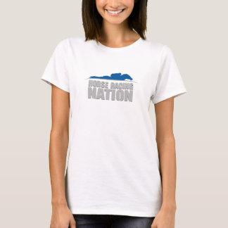 Camiseta O T das mulheres da nação da corrida de cavalos