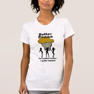 Camiseta O T das mulheres da noz-pecã da manteiga