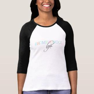 Camiseta O T das mulheres da vida de Hashtag Homeschool
