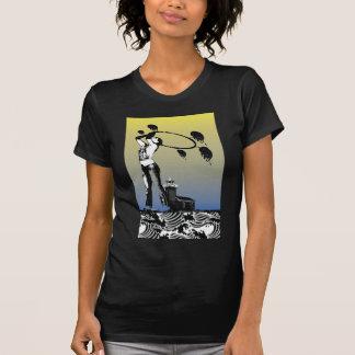 Camiseta O T das mulheres de Hoopjam do farol