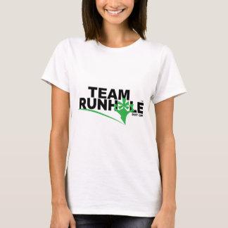 Camiseta O T das mulheres de Runhole