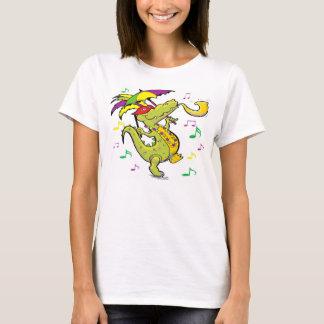 Camiseta O T das mulheres do carnaval do jacaré